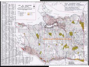 Vancouver Peat Bog, Assorted Soils and Historical Waterways Map