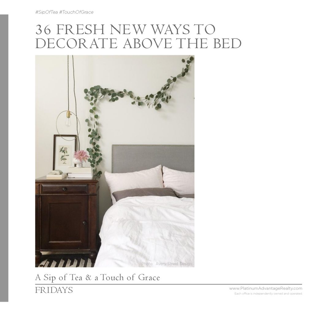 36 Fresh New Ways to Decorate Above the Bed