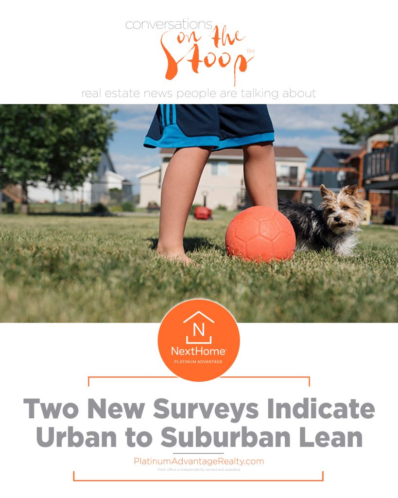 Two New Surveys Indicate Urban to Suburban Lean