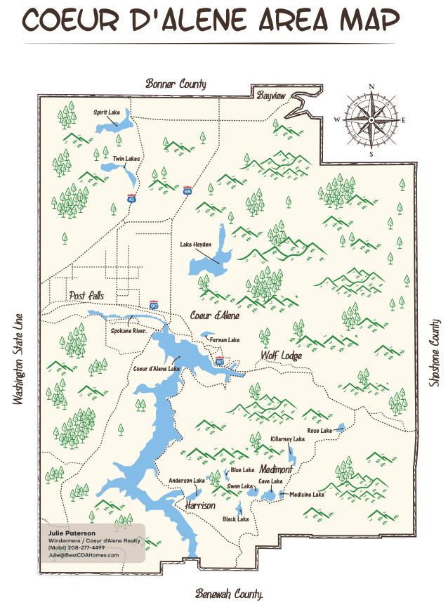 Coeur d'Alene area map