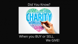 When you buy or sell we give