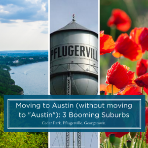 A glance at three Austin suburbs