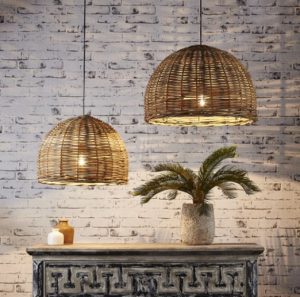 Great example of a basket pendant light
