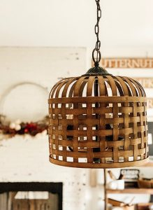 Woven Basket DIY Light