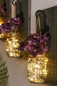 fairy light mason jar light fixture
