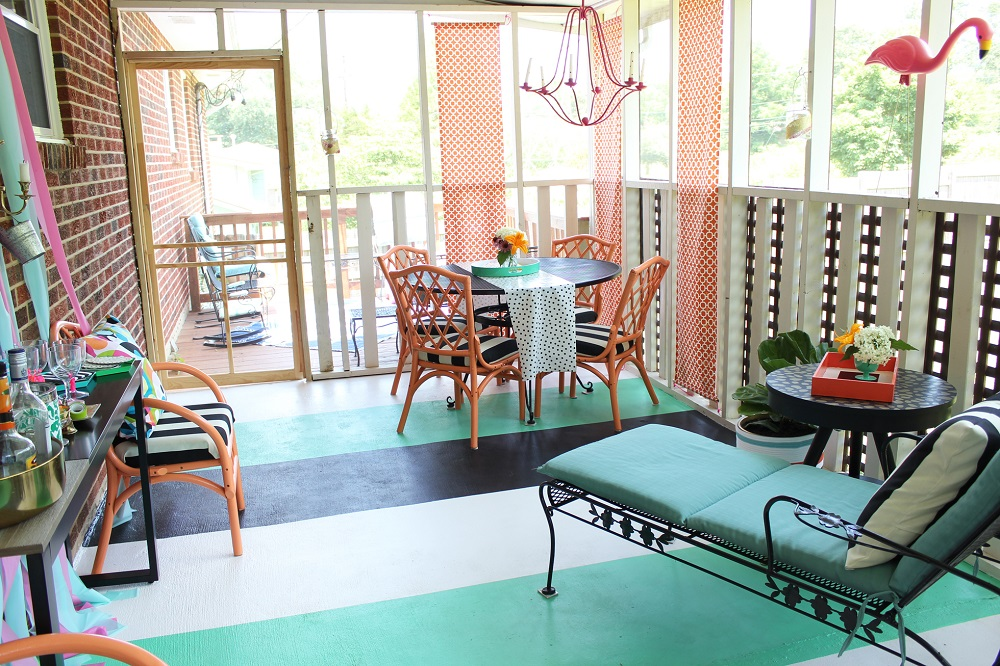 Painted Floors to Personalize a Space