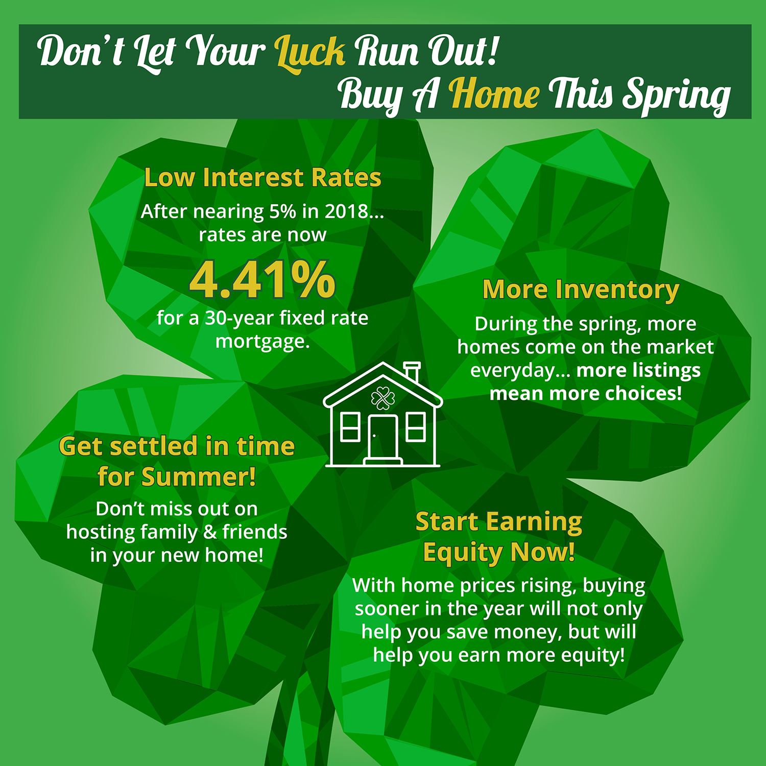 Don't Let Your Luck Run Out! Buy A Home This Spring [INFOGRAPHIC]   Simplifying The Market