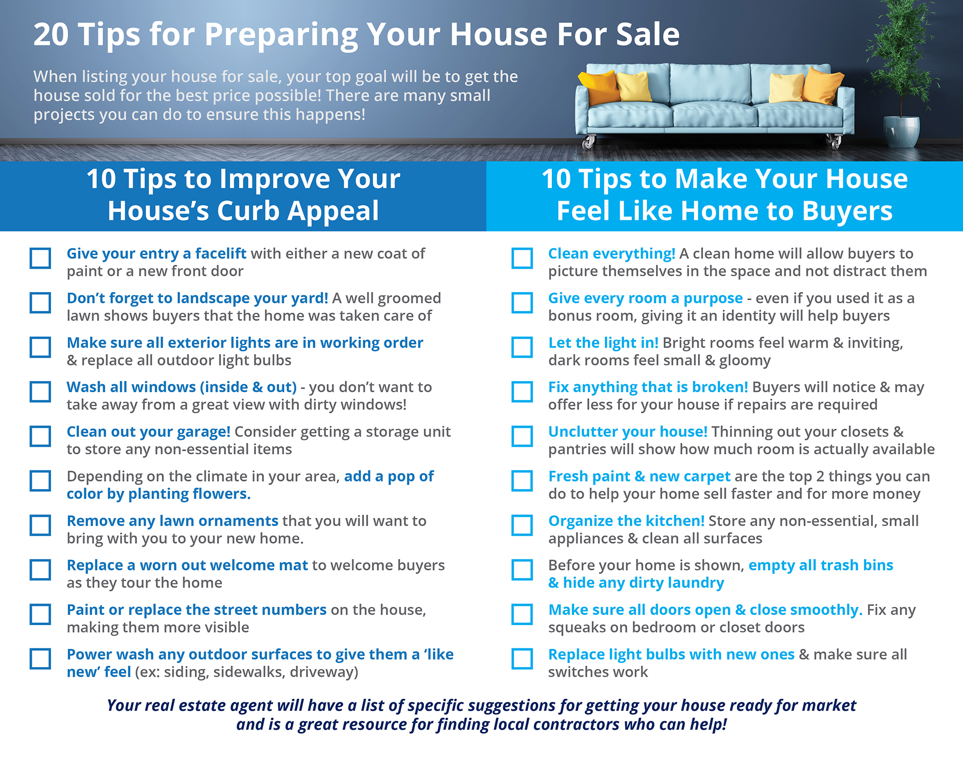 20 Tips for Preparing Your House for Sale This Fall [INFOGRAPHIC] | Simplifying The Market