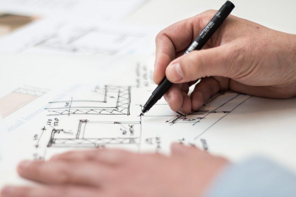 Home buying, real estate, floor plan