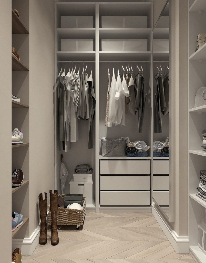 Shopping for a home, house hunting, storage space, closets