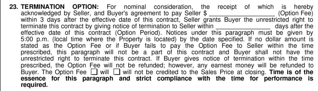 Option period when buying a house   How Does The Option Period Impact Buying and Selling Texas Homes?   Southlake Texas Realtor