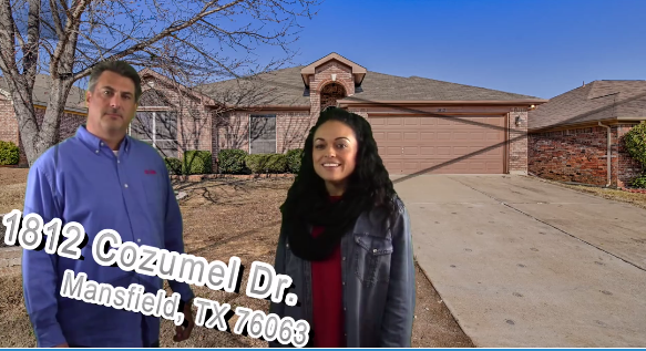 Check out our newest Mansfield Listing at 1812 Cozumel Dr, Mansfield, TX 76063!!! Hard to get 4 bedroom mansfield home under 200k! – $190,000