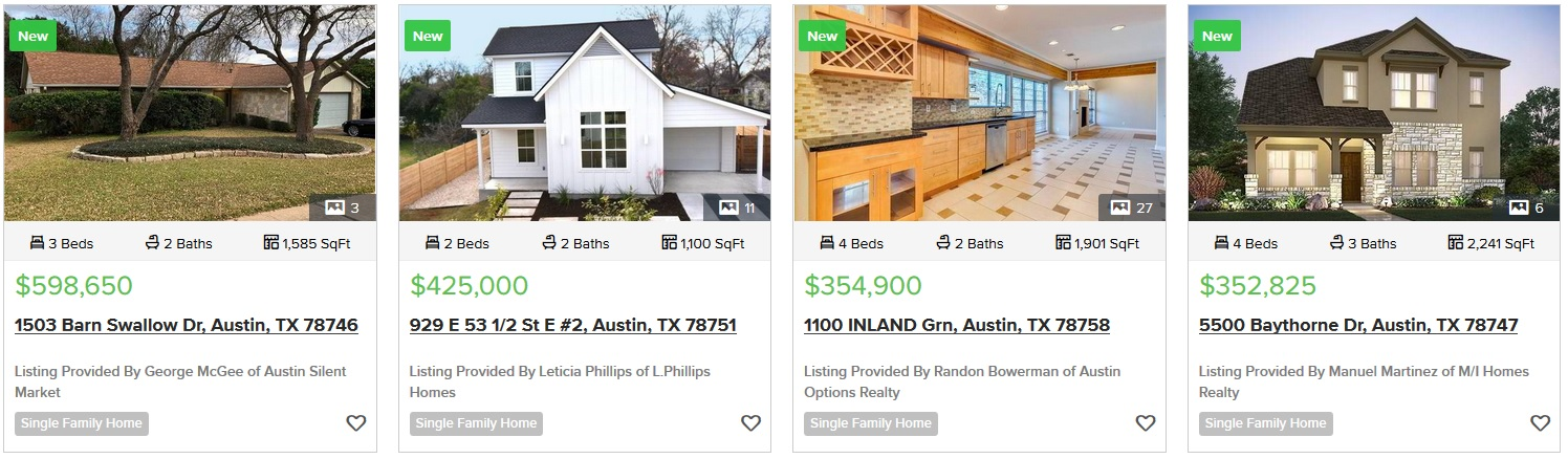 Moving To Austin Homes For Sale