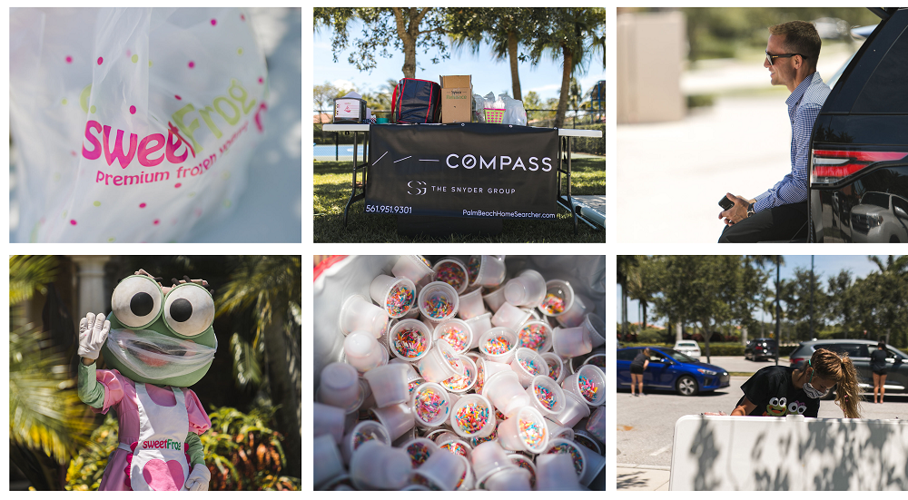 The Snyder Group hosted an event in Rialto Jupiter and invited Sweet Frog to treat residents.